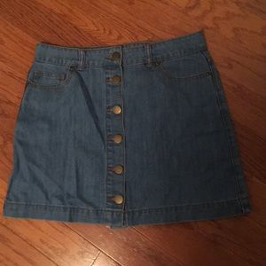 Forever 21 button jean skirt size large